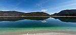 Germany, Upper Bavaria, Toelzer Land, near Kochel am See: Lake Walchen | Deutschland, Bayern, Oberbayern, Toelzer Land, bei Kochel am See: Walchensee, einer der tiefsten und groessten Alpenseen in den Bayerischen Voralpen