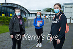 Holly O'Sullivan, Emily Heaslip and Megan Slye Mercy Mounthawk students pictured before sitting the Leaving Certificate English paper 1 on Wednesday morning.
