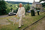 Laurie Lee author near Stroud Gloucestershire 1994 1990s. His village pub The Woolpack.
