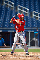 Washington Nationals Jeremy Ydens (14) at bat during an Instructional League game against the Miami Marlins on September 26, 2019 at FITTEAM Ballpark of The Palm Beaches in Palm Beach, Florida.  (Mike Janes/Four Seam Images)