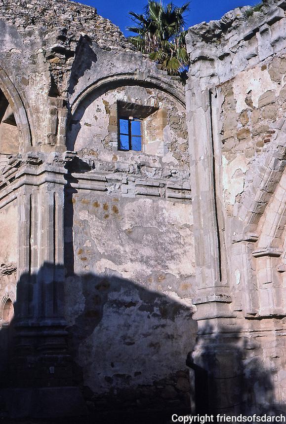 San Juan Capistrano Mission. San Juan Capistrano, CA. Photo April 1988.