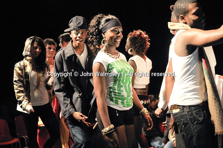 American section of a multi-cultural charity Fashion Show put on by students reflecting the wide cultural diversity of the student base at Kingston College.