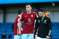 Charlie Lyons of Cobh Ramblers and Jack Baxter of Cork City at full time.<br /> <br /> Cobh Ramblers v Cork City, SSE Airtricity League Division 1, 28/5/21, St. Colman's Park, Cobh.<br /> <br /> Copyright Steve Alfred 2021.
