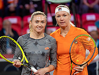 The Hague, The Netherlands, Februari 7, 2020,    Sportcampus, FedCup  Netherlands -  Balarus,First match friday :  Kiki Bertens (NED) (R) vs Aliaksandra Sasnovich (BLR)<br /> Photo: Tennisimages/Henk Koster
