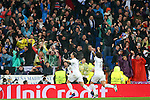 Real Madrid's Cristiano Ronaldo (l) and Marcelo Vieira celebrate goal during Champions League 2015/2016 Quarter-finals 2nd leg match. April 12,2016. (ALTERPHOTOS/Acero)
