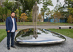 """Presentation of Gift entitled """"Consciousness"""" from Mongolia to the United Nations<br /> <br /> Former President Tsakhiagiin Elbegdorj, and the Artist of the art sculpture"""
