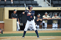 Alex Tappen (13) of the Virginia Cavaliers at bat against the Wake Forest Demon Deacons at David F. Couch Ballpark on May 19, 2018 in  Winston-Salem, North Carolina. The Demon Deacons defeated the Cavaliers 18-12. (Brian Westerholt/Four Seam Images)