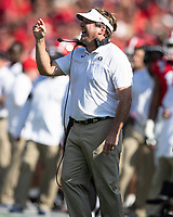 ATHENS, GA - SEPTEMBER 7: Georgia coach Kirby Smart calls to his players during a game between Murray State Racers and University of Georgia Bulldogs at Sanford Stadium on September 7, 2019 in Athens, Georgia.