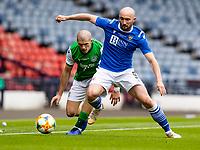 22nd May 2021; Hampden Park, Glasgow, Scotland; Scottish Cup Football Final, St Johnstone versus Hibernian;  Chris Kane of St Johnstone and Alex Gogic of Hibernian