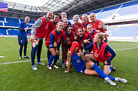 Harrison, NJ - May 24, 2019:  The USWNT trains in preparation for their last Women's World Cup Send Off Series game against Mexico at Red Bull Arena.