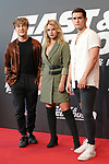 Carlos Marco, Paula Perez and Charly Weinberg of Mantra during the photocall for the 'Fast & Furious 9' Madrid Premiere. June 17, 2021. (ALTERPHOTOS/Acero)