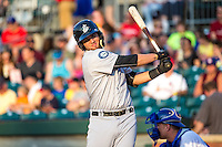D.J. Peterson (33) of the Jackson Generals bats during a game between the Jackson Generals and Chattanooga Lookouts at AT&T Field on May 8, 2015 in Chattanooga, Tennessee. (Brace Hemmelgarn/Four Seam Images)