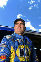 Sept 8, 2012; Clermont, IN, USA: NHRA funny car driver Ron Capps during qualifying for the US Nationals at Lucas Oil Raceway. Mandatory Credit: Mark J. Rebilas-