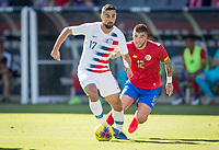 CARSON, CA - FEBRUARY 1: Sebastian Lletget #17of the United States moves with the ball during a game between Costa Rica and USMNT at Dignity Health Sports Park on February 1, 2020 in Carson, California.