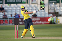 James Fuller hits 4 runs for  Hampshire during Essex Eagles vs Hampshire Hawks, Vitality Blast T20 Cricket at The Cloudfm County Ground on 11th June 2021