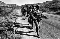 Burma Army troops on patrol in Shan State.