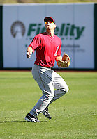 Chris Pettit - Los Angeles Angels - 2009 spring training.Photo by:  Bill Mitchell/Four Seam Images