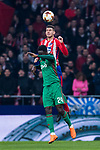 Lucas Hernandez (R) of Atletico de Madrid fights for the ball with Eder Lopes of FC Lokomotiv Moscow during the UEFA Europa League 2017-18 Round of 16 (1st leg) match between Atletico de Madrid and FC Lokomotiv Moscow at Wanda Metropolitano  on March 08 2018 in Madrid, Spain. Photo by Diego Souto / Power Sport Images