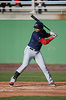 Salem Red Sox designated hitter Jose Sermo (16) at bat during the first game of a doubleheader against the Potomac Nationals on May 13, 2017 at G. Richard Pfitzner Stadium in Woodbridge, Virginia.  Potomac defeated Salem 6-0.  (Mike Janes/Four Seam Images)