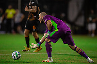 LAKE BUENA VISTA, FL - JULY 23: Marko Maric #1 of the Houston Dynamo throws the ball during a game between Los Angeles Galaxy and Houston Dynamo at ESPN Wide World of Sports on July 23, 2020 in Lake Buena Vista, Florida.