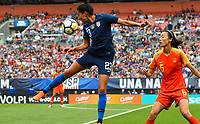 Cleveland, Ohio - Tuesday June 12, 2018: Christen Press during an international friendly match between the women's national teams of the United States (USA) and China PR (CHN) at FirstEnergy Stadium.