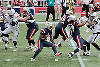 27th September 2020, Foxborough, New England, USA;  New England Patriots running back Sony Michel (26) carries the ball during the game between the New England Patriots and the Las Vegas Raiders