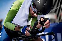 Eugenia Bujak (SVN/Alé BTC Ljubljana) after finishing<br /> <br /> Women Elite Individual Time Trial from Knokke-Heist to Bruges (30.3 km)<br /> <br /> UCI Road World Championships - Flanders Belgium 2021<br /> <br /> ©kramon