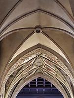 Deckengewölbe in der gotischen Kathedrale Notre Dame, Luxemburg-City, Luxemburg, Europa, UNESCO-Weltkulturerbe<br /> Ceiling vault, Gothic cathedral Notre Dame, Luxembourg, Luxembourg City, Europe, UNESCO world heritage