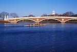 N.A., USA, Massachussetts, Cambridge, Harvard University,  Skulling on the Charles River