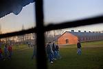 Young visitor at Auschwitz-Birkenau Museum.
