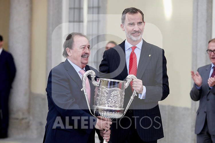 King Felipe VI of Spain attends to National Sports Awards at Royal Palace of el Pardo in Madrid, Spain. January 10, 2019. (ALTERPHOTOS/A. Perez Meca) (ALTERPHOTOS/A. Perez Meca)