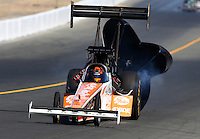 Jul. 27, 2013; Sonoma, CA, USA: NHRA top fuel dragster driver Clay Millican during qualifying for the Sonoma Nationals at Sonoma Raceway. Mandatory Credit: Mark J. Rebilas-
