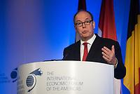 Le Prince Albert de Monaco a la Conference de Montreal 2017<br /> <br /> PHOTO : Philippe Manh Nguyen - Agence Quebec Presse