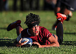 Action during the 1st XV Rugby match between Kings College v Sacred Heart College for the Fitzpatrick/Kirkpatrick Cup, Kings College, Auckland, New Zealand. Saturday 13 May 2017. Photo: Simon Watts/www.bwmedia.co.nz for Kings College