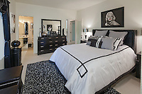 Stock photo of bedroom Modern black and white bedroom