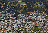 aerial photograph of Berkeley,  Alameda County, California, University of California Berkeley in the background