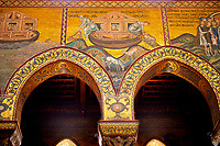 Medieval Byzantine mosaics of Noah's Arc, Monreale Cathedral, Sicily