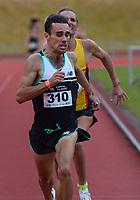 Julian Oakley wins the elite men's 1500m. 2021 Capital Classic athletics at Newtown Park in Wellington, New Zealand on Saturday, 20 February 2021. Photo: Dave Lintott / lintottphoto.co.nz