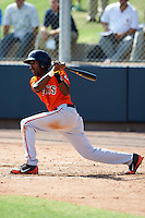 San Francisco Giants minor league infielder Travious Ralaford #2 during an instructional league game against the Colorado Rockies at the Salt River Flats Complex on October 4, 2012 in Scottsdale, Arizona.  (Mike Janes/Four Seam Images)