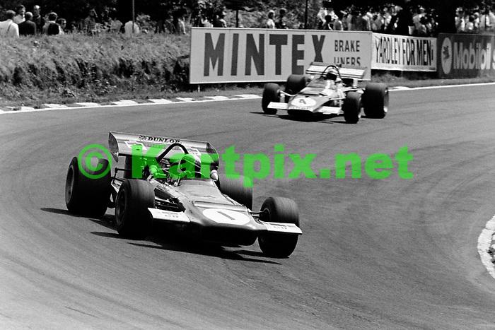 Jackie Stewart at the 1970 British Grand Prix at Brands Hatch.