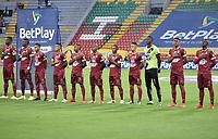 IBAGUE - COLOMBIA, 06-09-2021: Deportes Tolima y Envigado F.C. en partido por la fecha 8 como parte de la Liga BetPlay DIMAYOR I 2021 jugado en el estadio Manuel Murillo Toro de la ciudad de Ibagué. / Deportes Tolima and Envigado F.C. in match for the date 8 as part of BetPlay DIMAYOR League I 2021 played at Manuel Murillo Toro stadium in Ibague. Photo: VizzorImage / Joan Orjuela / Cont