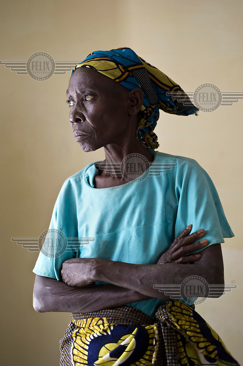 A portrait of 40 year old Sinandugu M'karongo, a victim of sexual violence who is receiving treatment at Panzi Hospital. An estimated 250,000 women have been victims of rape during the Democratic Republic of Congo's civil war.