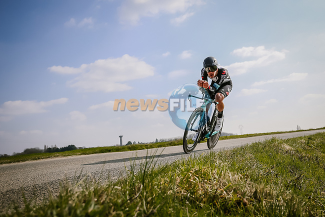 Alexander Konychev (ITA) Team BikeExchange during Stage 3 of Paris-Nice 2021, an individual time trial running 14.4km around Gien, France. 9th March 2021.<br /> Picture: ASO/Fabien Boukla | Cyclefile<br /> <br /> All photos usage must carry mandatory copyright credit (© Cyclefile | ASO/Fabien Boukla)