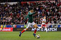 Harrison, NJ - Tuesday April 10, 2018: Michael Pérez during leg two of a  CONCACAF Champions League semi-final match between the New York Red Bulls and C. D. Guadalajara at Red Bull Arena. C. D. Guadalajara defeated the New York Red Bulls 0-0 (1-0 on aggregate).