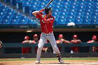 Alex Mooney (46) of Orchard Lake St Mary's Prep in Rochester Hills, MI playing for the Cincinnati Reds scout team during the East Coast Pro Showcase at the Hoover Met Complex on August 5, 2020 in Hoover, AL. (Brian Westerholt/Four Seam Images)