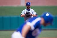 Zac Rosscup (16) of the Iowa Cubs looks at the batter prior to a pitch during a game against the Oklahoma City Dodgers at Chickasaw Bricktown Ballpark on April 9, 2016 in Oklahoma City, Oklahoma.  Oklahoma City defeated Iowa 12-1 (William Purnell/Four Seam Images)