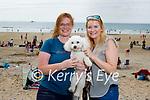 Taking Lily the dog for a walk in Banna Beach on Sunday were Lorraine Griffin (Tralee) and Farna O'Sullivan (Killarney).