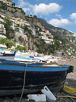 Blue Boat - Amalfi Coast, Italy