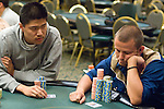 Shi Jia Liu  stares down Joe Sebok