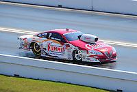 Apr. 29, 2011; Baytown, TX, USA: NHRA pro stock driver Greg Anderson during qualifying for the Spring Nationals at Royal Purple Raceway. Mandatory Credit: Mark J. Rebilas-